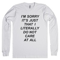 I Don't Care-Unisex White T-Shirt