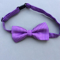 purple Boys bow tie baby purple youth bow tie Boys accessories boys ring bearer outfit toddler bow tie polka dot bow ties boys
