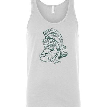 Official NCAA Michigan State University Spartans MSU Sparty Unisex Tank - 04MS-1-b