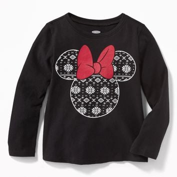 Disney© Minnie Mouse Fair Isle Tee for Toddler Girls |old-navy