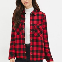 Faux Shearling Plaid Jacket