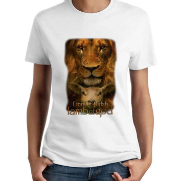 Lamb Of God Lion Of Judah Woman T-Shirt