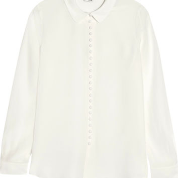 Iris and Ink Kate silk crepe de chine shirt – 0% at THE OUTNET.COM
