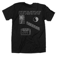 Leaving Records: Leaving ASCII Party Shirt - Black