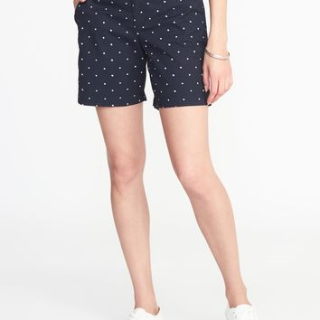 "Mid-Rise Everyday Khaki Shorts for Women (7"")