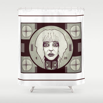 psychictv Shower Curtain by Kathead Tarot/David Rivera