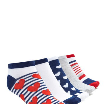 Heart Stripe Ankle Sock Set