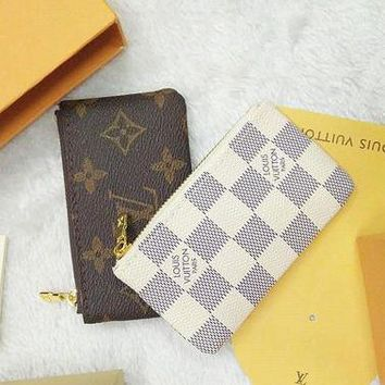 Louis Vuitton Monogram Canvas Key Pouch Key Case Purse