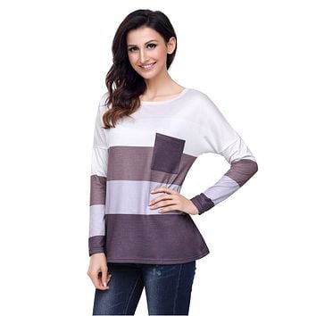 Bradley Colorblock Rugby Stripe Long Sleeve Pocket Tee