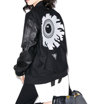 Long Clothing x Mishka Keep Watch Varsity Jacket Black Small