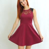 Swoon in Maroon Cutout Dress -  $40.00 | Daily Chic Dresses | International Shipping