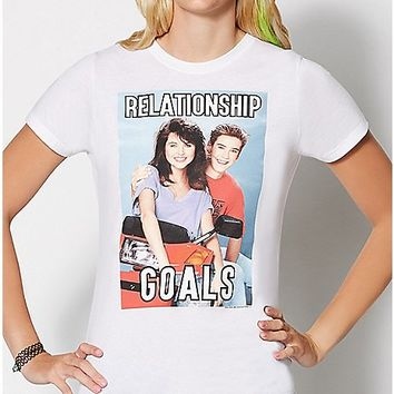 Relationship Goals T Shirt - Saved By The Bell - Spencer's