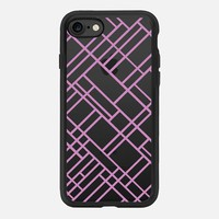 Map Outline 45 Dark Pink Transparent iPhone 7 Case by Project M | Casetify