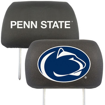 Penn State Nittany Lions NCAA Polyester Head Rest Cover (2 Pack)