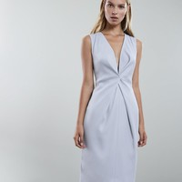Mosaic Twist Front Dress - REISS