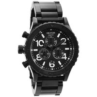 Nixon The 42-20 Chrono Watch All Black One Size For Men 15471817801