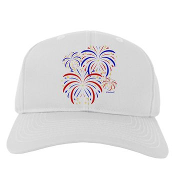 Patriotic Fireworks with Bursting Stars Adult Baseball Cap Hat by TooLoud