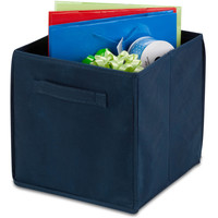 "NEW! Folding Storage Cube 10.6""""X10.6""""X11.4""""-Navy"