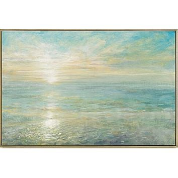 Van Gogh Sea Cross Stitch Kits Sunrise Scenery Crafts 14CT Unprinted Embroidered Handmade Art DMC Oil Painting Wall Home Decor