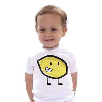 new kids Lemon with Feet Printed T-Shirt size 345t