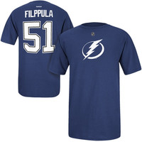 Valtteri Filppula Tampa Bay Lightning Reebok Name and Number Player T-Shirt – Navy Blue