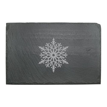 Paper Snowflake Slate Cheese Server