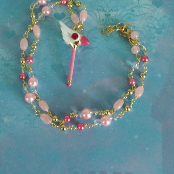 Princess of the cards inspired necklace