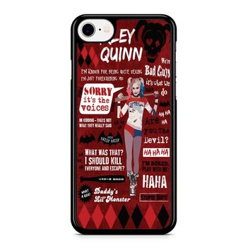 Harley Quinn Quote 3 iPhone 8 Case
