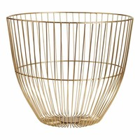 Large metal wire basket - Gold-coloured - Home All | H&M GB