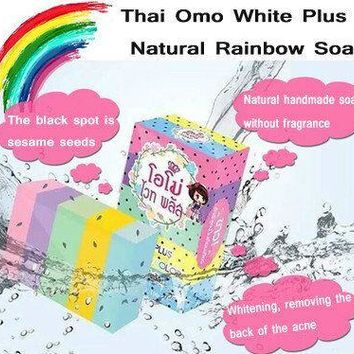 Thailand OMO Soap Natural Whitening Handmade Soap Shaving Soap Gluta Bath And Body Works Fern Essential Oil Fruity Beauty Soaps