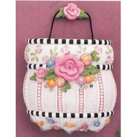In the Garden Cottage Rose Wall Pocket-Mary Engelbreit