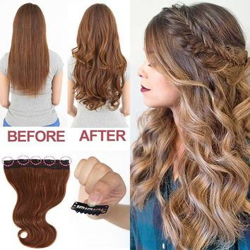 "20"" Wedding hairstyle Curly Wave Clip in Hair extensions One piece hair extensions"