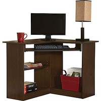 Staples® Easy2Go Corner Computer Desk, Resort Cherry | Staples®