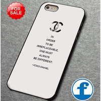 Choco Chanel Quotes (2)  for iphone, ipod, samsung galaxy, HTC and Nexus PHONE CASE