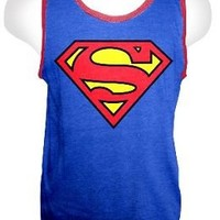 DC Comics Superman Logo Adult Blue T-shirt Tank Top - Superman - | TV Store Online