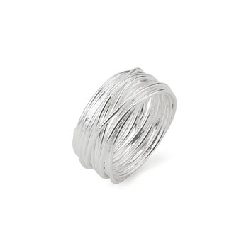 Coiled Wrap Statement Band in Silver 925