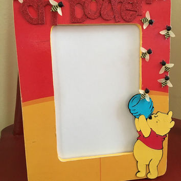 Picture Frame, Disney Winnie The Pooh Inspired, Kids Room Decor, Nursery Decor, photo frame, Dosney Memories