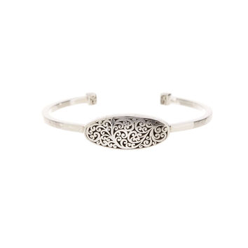 Floral Engraved Open Band