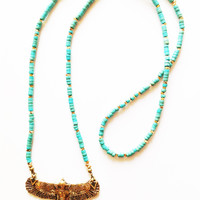 Wild Heart Soar Necklace - Turquoise