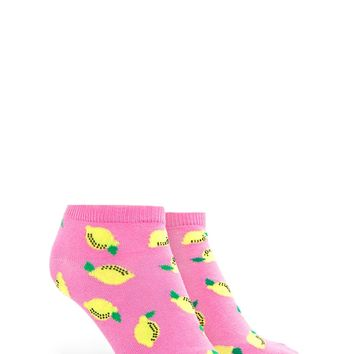 Lemon Print Ankle Socks