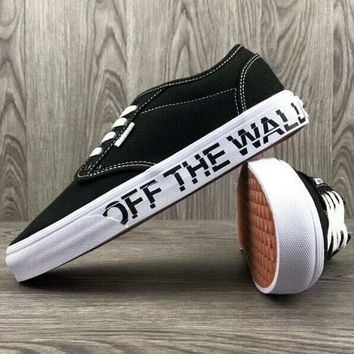 VANS & OFF-WHITE Joint Series Trendy Skateboard Fashion Couple Low Top Shoes F-CSXY black