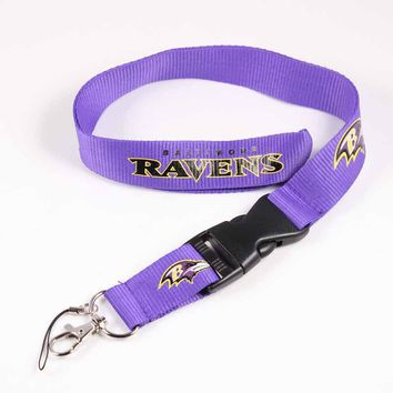 6pcs Baltimore Ravens Lanyards Neck Strap For ID Pass Card Badge Gym Key / Mobile Phone USB Holder USA DIY Hang Rope Lanyard