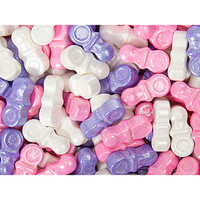 Pastel Baby Pacifiers Celebration Candy: 2LB Bag