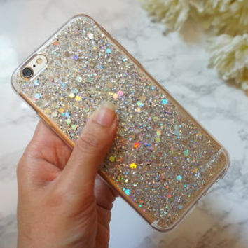 holographic  glitter iphone 6 case. sparkle case for iphone 6 /6s or iphone 6 plus/ 6s plus