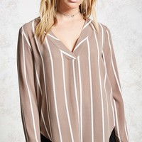 Striped Surplice Top