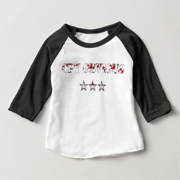 Funny Cpt Obvious and army stars Baby T-Shirt