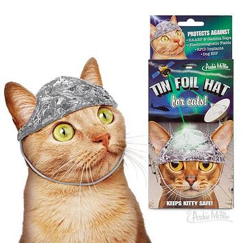 Tin Foil Hats for Conspiracy Cats