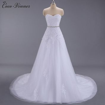 C.V Appliques Beading Lace A line Wedding Dresses New Arrival European Fashion Sashes Court Train Chinese Wedding Gown W0094