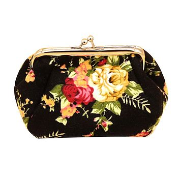 Xiniu Women Flower Small Wallet Bag Purse Clutch Bag Hasp Coin Wallet sacoche homme #XTJ
