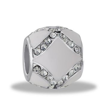 DaVinci Beads CZ White Enamel Jewelry